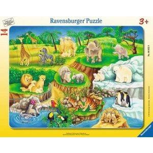 Puzzle Copii 3Ani+ la zoo, 14 piese imagine