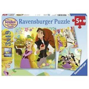 PUZZLE Copii 5Ani+ RAPUNZEL, 3x49 PIESE imagine