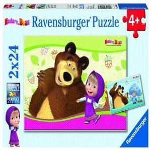 PUZZLE Copii 4Ani+ MASHA SI URSUL, 2x24 PIESE imagine
