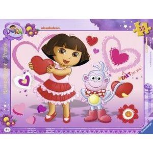 PUZZLE Copii 4Ani+ DORA, 35 PIESE imagine