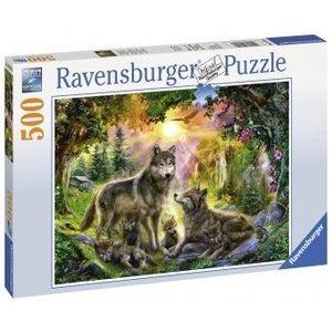 Puzzle Fun 10Ani+ Familia Lupilor, 500 piese imagine