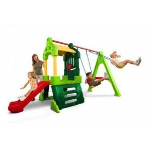 Spatiu de Joaca cu Tobogan si Leagan copii 3-8 Ani Little Tikes imagine