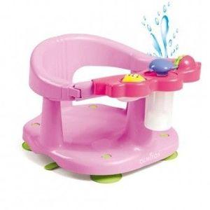 Scaun baie bebe cu stropitoare si jucarii Olmitos Roz imagine