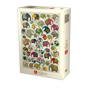 Pattern Puzzle - Elephants - 1000 piese imagine