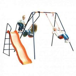 Leagan, balansoar si tobogan MVS Saturn pentru copii combinate imagine