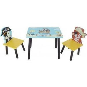 Set masuta si 2 scaunele Copii Fun Pirate Blue imagine