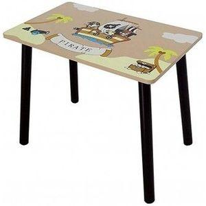 Set masuta si 2 scaunele Copii Fun Pirate Brown imagine