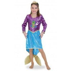 Costum Copii pentru serbare Sirena Deluxe 128 cm imagine