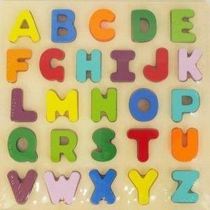 Joc puzzle Copii Have Fun din lemn Alfabetul imagine
