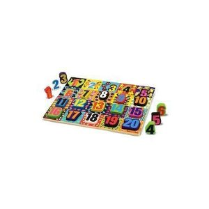 Chunky Puzzle, Numbers. Puzzle lemn in relief, Numere imagine