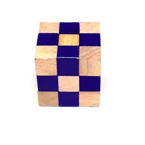 Puzzle logic din lemn: Mov + crem imagine
