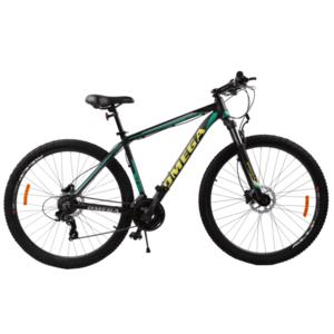 Bicicleta mountainbike Omega Duke 27.5 cadru 49cm 2019 negru verde galben imagine