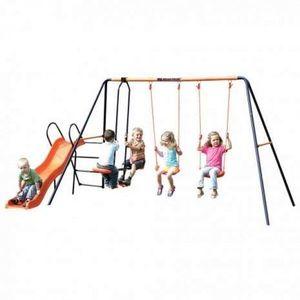 Leagan dublu, balansoar si tobogan MVS Europa pentru copii combinate imagine