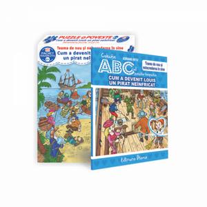 Set puzzle si carte - Cum a devenit Louis un pirat neinfricat | diana imagine