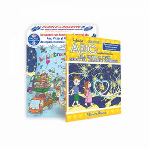 Set puzzle si carte - Ana, Victor și Neuro descopera misterele creierului | diana imagine