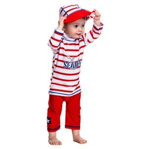 Costum De Baie Sealife Red Marime 98- 104 Protectie Uv Swimpy imagine