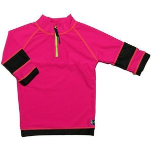 Tricou De Baie Pink Black Marimea 104- 116 Protectie Uv Swimpy imagine