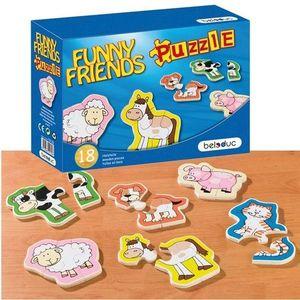 Puzzle Lemn Animale imagine