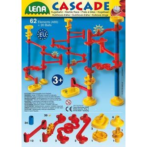 Set De Joaca Labirint Cu 20 Bile Si 64 De Elemente Lena imagine