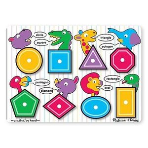 Puzzle Lemn Forme Geometrice imagine