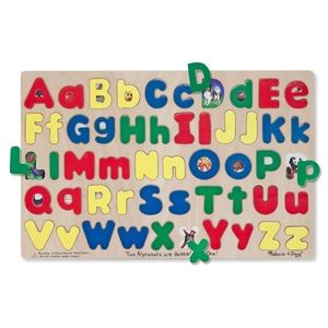 Puzzle Alfabet, Litere mari si mici imagine