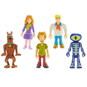 Set 5 Figurine 7 Cm Personaje (daphne, Scooby Doo, Shaggy, Fred, Skeleton Man) imagine