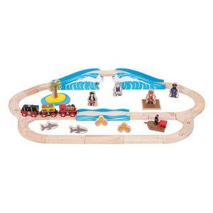 Trenuletul piratilor BigJigs imagine