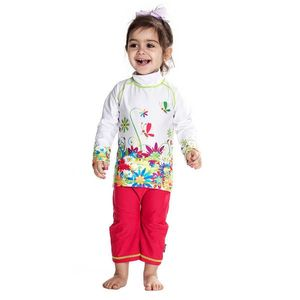 Costum De Baie Flowers Marime 98- 104 Protectie Uv Swimpy imagine