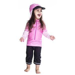 Costum De Baie Pink Ocean Marime 74- 80 Protectie Uv Swimpy imagine