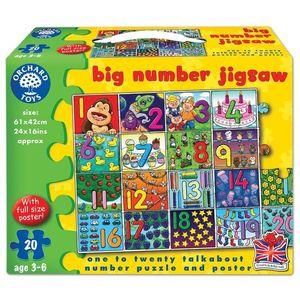 Puzzle De Podea Invata Numerele (de La 1 La 20) Big Number Jigsaw imagine