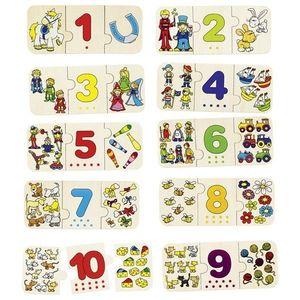 Puzzle Lemn Cu Autocorectie Invata Numerele imagine
