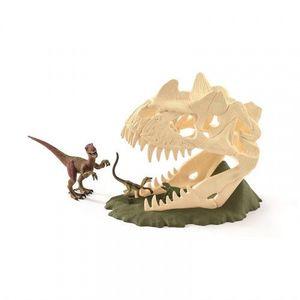 Set figurine Schleich - Craniu mare cu velociraptor - SL42348 imagine