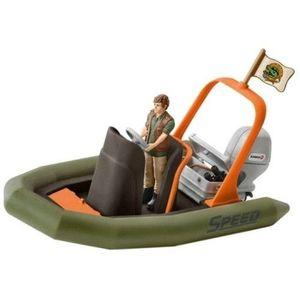 Figurina Schleich - Barca gonflabila cu padurar - SL42352 imagine
