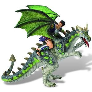 Luptator pe dragon verde imagine