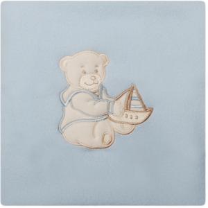 Paturica bebelusi cu Broderie Polar Fleece 90 x 80 cm Womar Zaffiro PT-PF-01 imagine