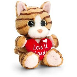 Pisicuta de plus Sparkle Eyes cu inimoara 20 cm Keel Toys imagine