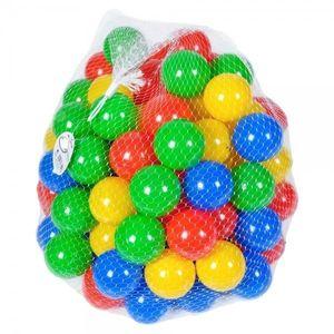 Set 100 bile colorate din plastic, Trufi, mingiute multicolore imagine