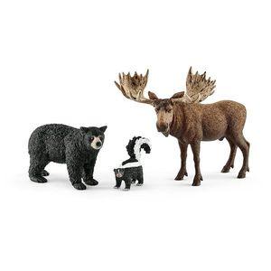 Set figurine Schleich - Animale din padurile americii de nord - SL41456 imagine