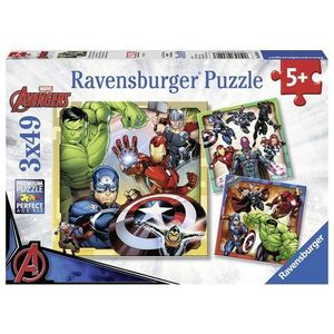 Puzzle marvel avengers 3x49 piese imagine