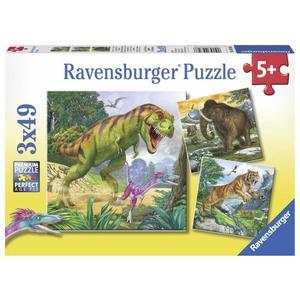 Puzzle dinozauri, 3x49 piese imagine