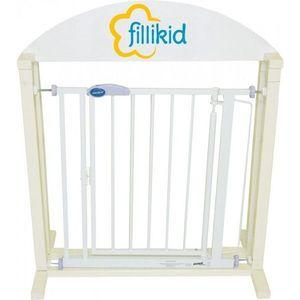 Bariera-poarta usa-scari alba cu autoblocare Fillikid imagine