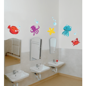 Sticker decorativ Viata marina - 94 x 50 cm imagine