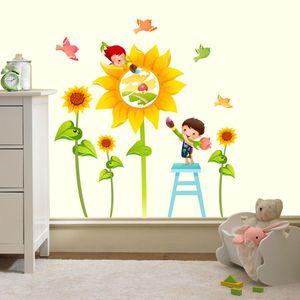 Stickere perete copii Floarea soarelui - 120 x 120 cm imagine