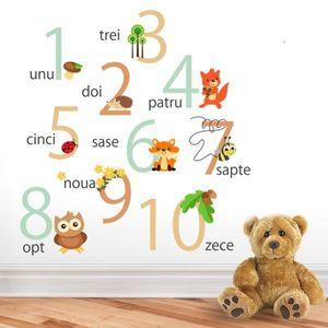 Sticker decorativ Padurea cu Numere - 120 x 40 cm imagine