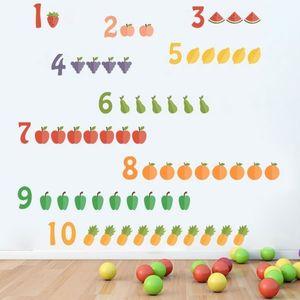 Sticker decorativ Invatam sa numaram - 121 x 65 cm imagine