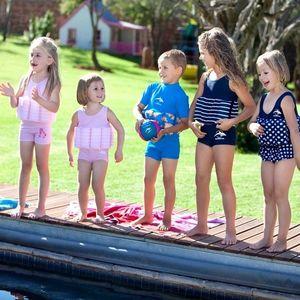 Konfidence - Costum inot copii cu sistem de flotabilitate ajustabil blue stripe 4-5 ani imagine