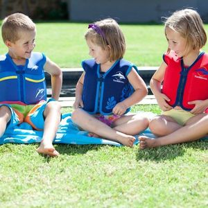 Konfidence - Vesta inot copii cu sistem de flotabilitate ajustabil The Original blue palm 6-7 ani imagine