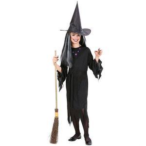 Costum Vrajitoare Copii Halloween 5 - 7 ani / 128 cm imagine