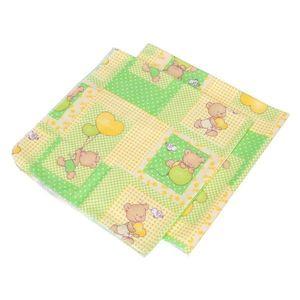 Babyneeds - Scutec finet Ursuleti colorati, Verde, 2 bucati 75/75 cm imagine