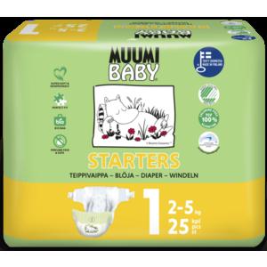 Scutece finlandeze eco Muumi Baby 1 nou nascut, 2-5 kg, 25 bucati imagine